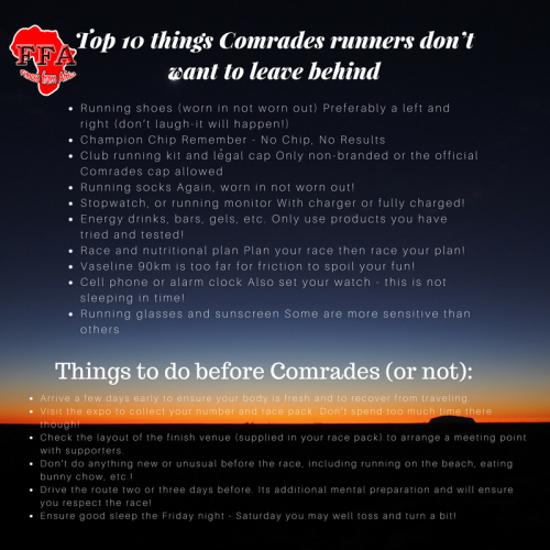 Top 10 Things Comrades Runners Don't Want To Leave Behind